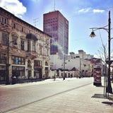 Nette Architektur in Lodz, Polen Lizenzfreies Stockfoto