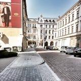 Nette Architektur in Lodz, Polen Lizenzfreies Stockbild