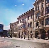 Nette Architektur in Lodz, Polen Stockbilder