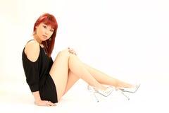 Nette asiatische Art des Mädchen-80s Lizenzfreies Stockfoto