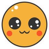 Nette Avataraikone mit recht orange Gesicht auf weißem Hintergrund vektor abbildung
