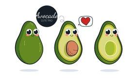 Nette Avocadocharaktere Stockbilder