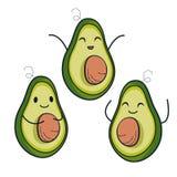 Nette Avocadocharaktere Lizenzfreies Stockfoto