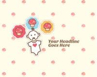 Nette Babyalbum-Designschablone Lizenzfreie Stockfotografie