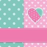 Nette Babygrußkarte Lizenzfreie Stockbilder