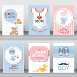 Nette Babypartyeinladung Vektor Lizenzfreie Stockbilder