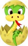Nette Babyschlangenkarikatur Stockfotografie