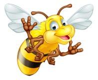 Nette Biene der Karikatur Stockfoto