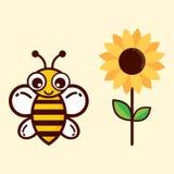 nette Biene mit Text lizenzfreie abbildung