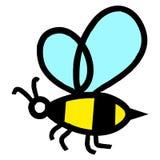 Nette Bienenillustration Lizenzfreies Stockbild