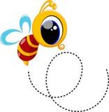 Nette Bienenkarikatur stock abbildung
