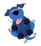 Nette blaue Hundekarikatur Stockfoto
