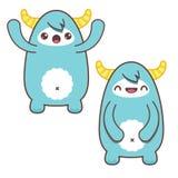 Nette blaue Kawaii-Yeti Stock Abbildung