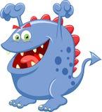Nette blaue Monsterkarikatur Lizenzfreie Stockfotografie