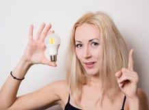 Nette blonde besuchte Idee Lizenzfreies Stockfoto