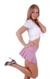 Nette blonde Frau. Lizenzfreies Stockfoto