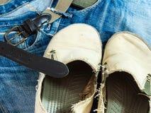 Nette Blue Jeans in der Weinleseart Lizenzfreies Stockbild