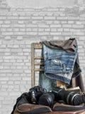 Nette Blue Jeans in der Weinleseart Stockbild