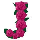 Nette Blumenillustration des Buchstaben J stockfoto