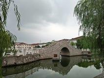 Nette Brücke vom Porzellan Stockbild