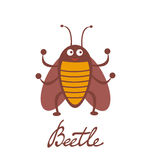 Nette bunte Käfercharakterillustration Stockbilder