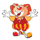 Nette Cat Clown Cartoon Character Lizenzfreie Stockbilder