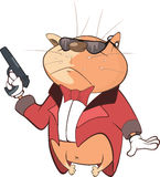 Nette Cat Secret Agent Cartoon Lizenzfreies Stockbild
