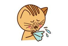 Nette Cat Sick Lizenzfreie Stockbilder