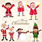 Nette Charaktere für frohe Weihnachten vektor abbildung