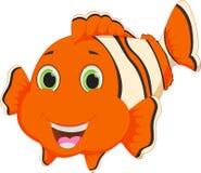 Nette Clownfischkarikatur Stockfoto