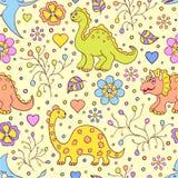Nette Dinosaurier Stockbild