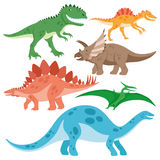 Nette Dinosaurier eingestellt vektor abbildung