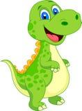 Nette Dinosaurierkarikatur Stockbild