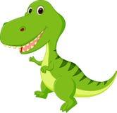 Nette Dinosaurierkarikatur Lizenzfreies Stockfoto