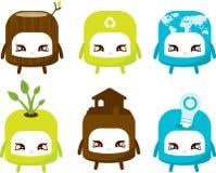 Nette Eco-Themenorientierte Auslegungen stock abbildung