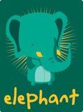 Nette Elefantglückwunschkarte Lizenzfreie Abbildung