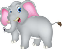 Nette Elefantkarikatur lizenzfreie abbildung