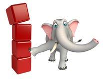 Nette Elefantzeichentrickfilm-figur mit Niveau vektor abbildung
