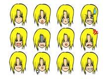Nette Emoticonart Lizenzfreie Stockbilder