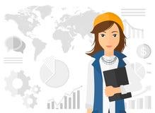 Nette erfolgreiche Geschäftsfrau Lizenzfreie Stockbilder