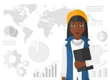 Nette erfolgreiche Geschäftsfrau Lizenzfreies Stockfoto