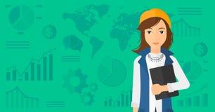 Nette erfolgreiche Geschäftsfrau Lizenzfreie Stockfotos