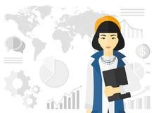 Nette erfolgreiche Geschäftsfrau Stockbilder