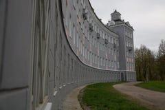 Nette europäische Architektur der Artgebäude-gekrümmten Linie Stockfoto