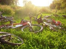 Nette Fahrräder Lizenzfreies Stockbild