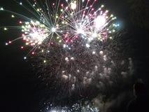 Nette Farben Feuerwerk Feuerwerk Stockbild