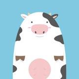 Nette fette große Kuh Stockfoto
