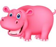 Nette Flusspferdkarikatur Lizenzfreies Stockfoto
