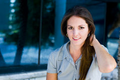 Nette Frau Lizenzfreies Stockfoto