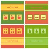 nette Fruchtkarten stock abbildung